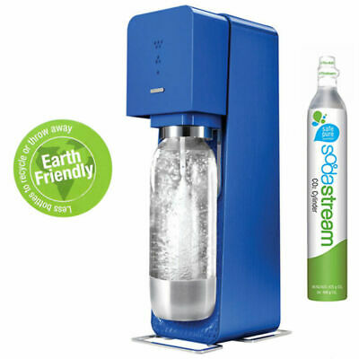 Soda Stream Source Blue Metal Home Soft Fizzy Bubble Drinks Maker Sodastream