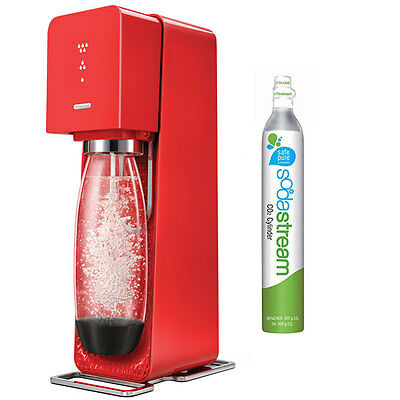 Soda Stream Source Element Red Home Soft Fizzy Bubble Drinks Maker Sodastream