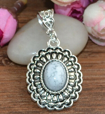 Fashion Jewelry Classical hot cute Turquoise tibet silver Pendants H-874