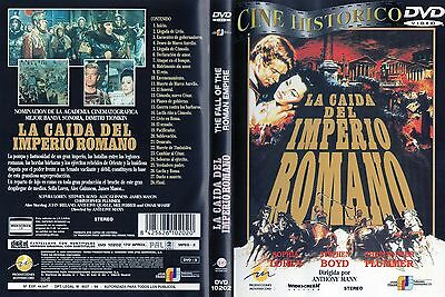 THE FALL OF THE ROMAN EMPIRE DVD La Caida del Imperio Romano Sophia Loren Zone 2
