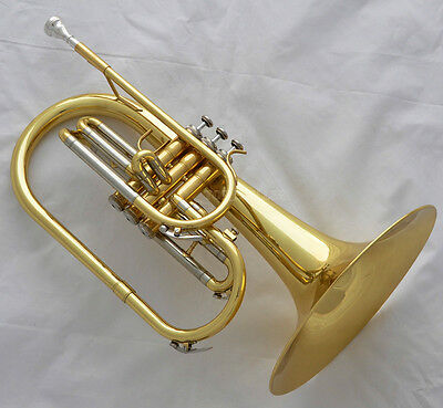 Professional JINBAO Gold Lacquer Mellophone F Key horn Monel Valves with case