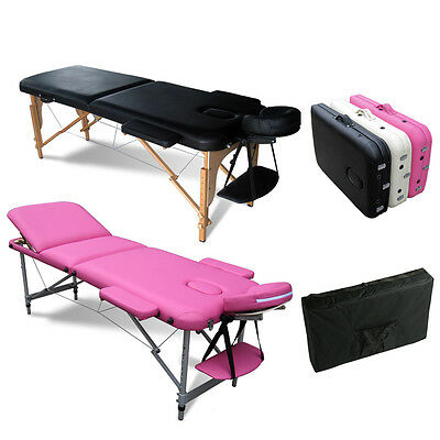 Portable Folding Massage Table Tattoo Therapy Beauty Salon Couch Bed Lightweight