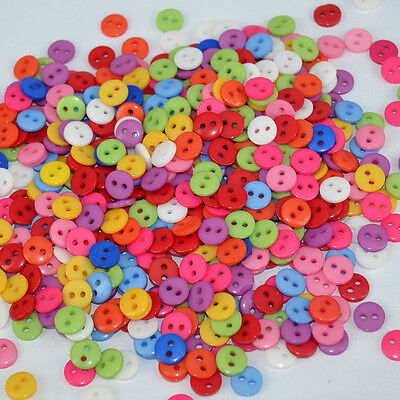 lot 50 boutons 9 mm multicolor melange 2 trous couture mercerie scrapbooking