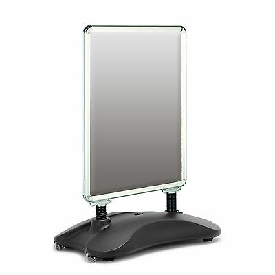 New A1 Waterbase Pavement Poster Sign A-Board Holder Snap Frame Display Stand