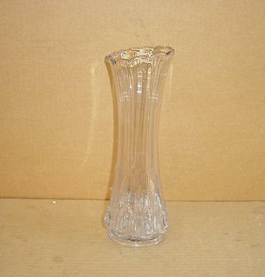 "EAPG RARE CRYSTAL SNAIL IDAHO SWUNG 11"" VASE GEORGE DUNCAN & SONS 1880'S"