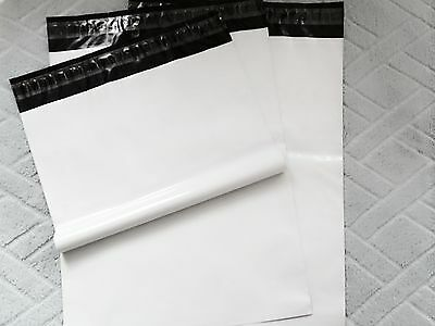 "25pcs #6 white poly mailer plastic shipping bag 12"" x 16"" * 2.5MIL best quality*"