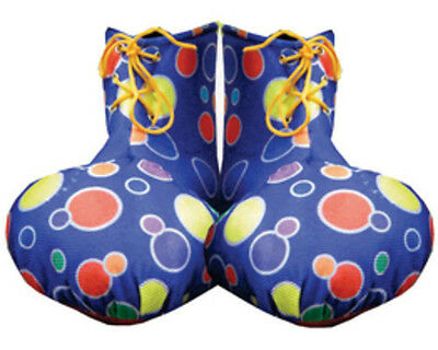 Dress Up America 624 Blue Clown Shoe Covers Costume Accessories New