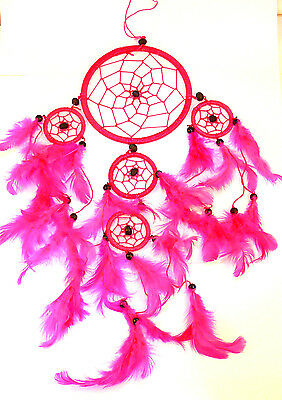 CAPTEUR/ATTRAPEUR DE REVE/DREAM CATCHER country rose dreamcatcher pink