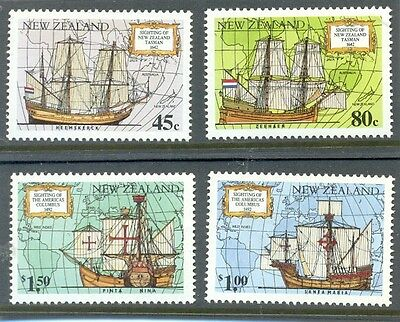 New Zealand-Discovery Sailing Ships-Explorers mnh set of 4 (1659-62)