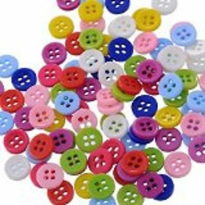 lot 50 boutons 12 mm multicolor melange 4 trous couture mercerie scrapbooking