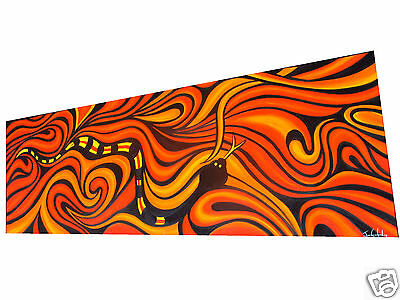2 metre large Aboriginal Art OIL Painting Abstract  Snake Canvas  JANE CRAWFORD