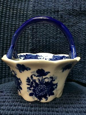 Beautiful Chinese Blue and White porcelain basket.