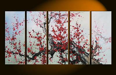 Huge Modern Abstract Asian Blossom Zen Art Oil Painting Wall Deco canvas