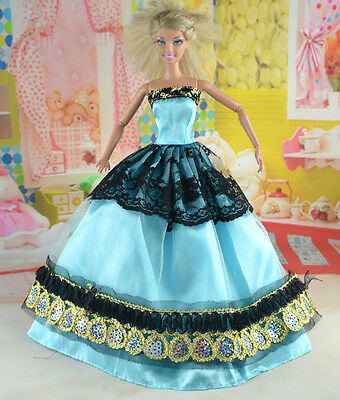 hot New Handmade Party Clothes Fashion Dress for Noble Doll *y30