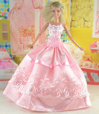 hot New Handmade Party Clothes Fashion Dress for Noble Doll *y26