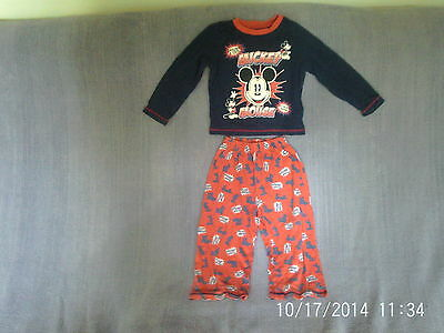 Baby Boys 18-24 Months - Blue & Red Pyjamas, Mickey Mouse - Disney Store
