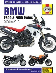 Haynes manual 4872 BMW F800 and F650 Twins 06-10