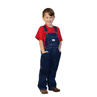 West End Blues Boys Girls Soft Washed Denim Kids Bib Overall - Sizes 3T to 18
