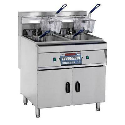 Deep Fryer with Cold Zone Double Vat / 2x28L Computerised FryMax Commercial Unit