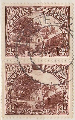 (RSB36) 1926 RSA 4d brown joined pair (B) used