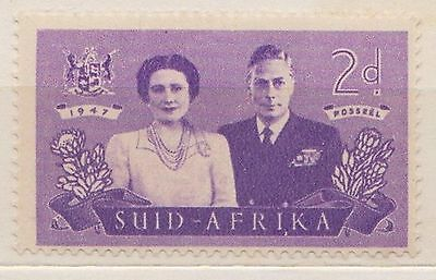 (RSB9) 1947 RSA 2d violet SUID Africa (A) MH