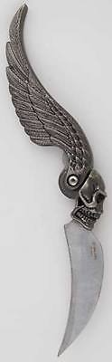 Skull Wing Ritual Athame Gothic Wiccan Pagan Witchcraft Altar Supply RA693
