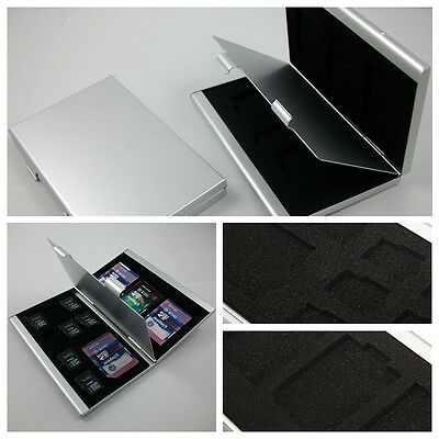 High Quality Aluminum 8x TF 4x SD Memory Card Storage Box Case Holder Protector