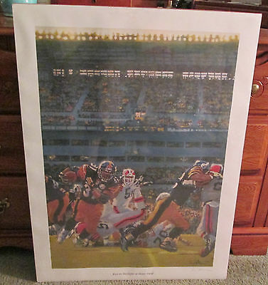 Pittsburgh Steelers Offense Signed Lithograph Man Cave Rare
