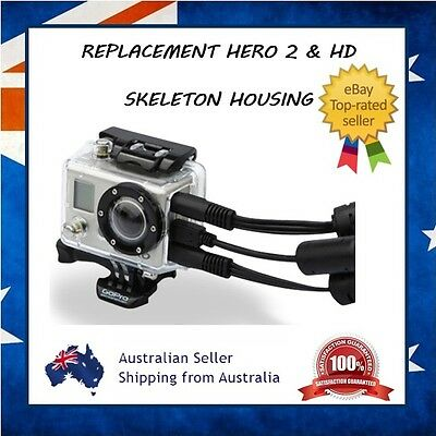 GoPro Hero 2 & HD 1 Skeleton Protective Housing Case - Open Port for USB & Mic