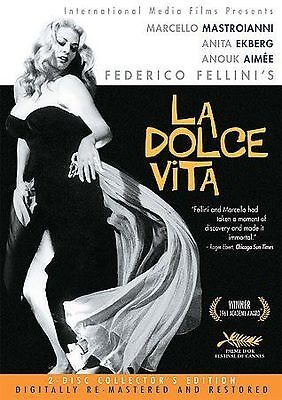 La Dolce Vita (DVD, 2004, 2-Disc Set, Collector's Edition) Free Shipping