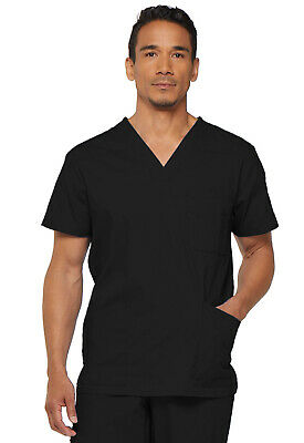 Dickies Scrubs EDS Men's Scrub Top 81906 BLACK BLWZ Dickies Signature
