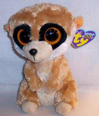 "NEW RETIRED TY 2011 REBEL THE MEERKAT BEANIE BOO BOOS 6"" PLUSH WITH TAGS"