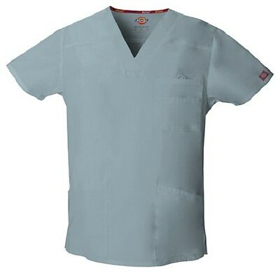 Dickies Scrubs EDS Men's Scrub Top 81906 GREY GRWZ Dickies Signature