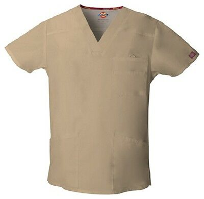 Dickies Scrubs EDS Men's Scrub Top 81906 KHAKI KHIZ Dickies Signature