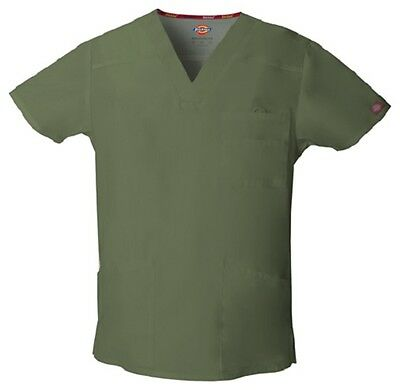 Dickies Scrubs EDS Men's Scrub Top 81906 OLIVE OLWZ Dickies Signature