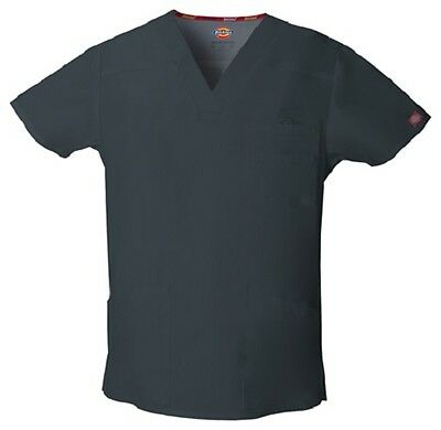Dickies Scrubs EDS Men's Scrub Top 81906 PEWTER PTWZ Dickies Signature