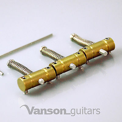 3 x VANSON Brass Vintage Saddles for Tele® Telecaster®* guitar bridge, Straight