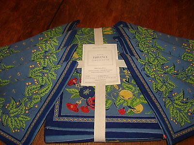 Williams Sonoma Nappe Provence Blue Tablecloth & 8 Matching Napkins Nwt $269