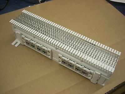 Siemons 12 port RJ45 Cat5E Patch Panel with 66 block connections and Telco