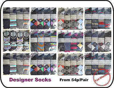 Men Gents Designer Casual Suit Socks Wholesale Job Lot Trade Clearance Multi