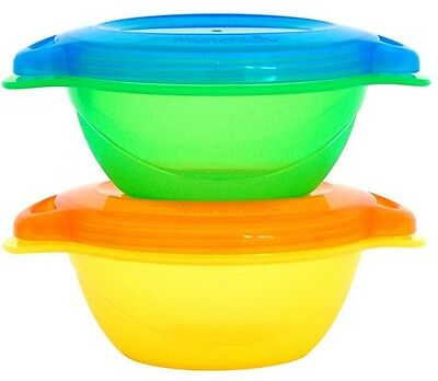 Munchkin Toddler Baby Kids Click Lock Bowls Feeding Snack Food Lids 2-Pack - New