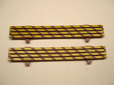 Pair American Flyer Striped Tuscan Work Caboose Fences
