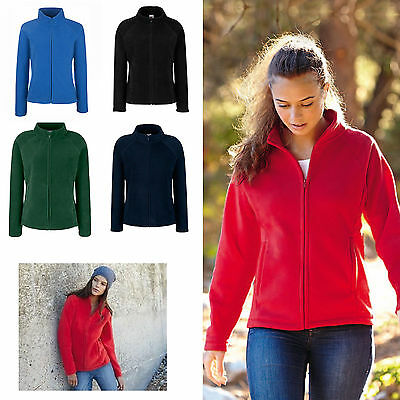 Felpa Pile Invernale Donna Con Zip Intera Fruit Of The Loom Maglia Manica Lunga