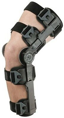 Breg T-Scope ROM Hinged Black Knee Brace Adjustable Universal Size