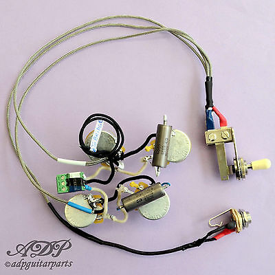 Kit Control Electronique Cable Telecaster Deluxe LP Wiring harness No Soldering