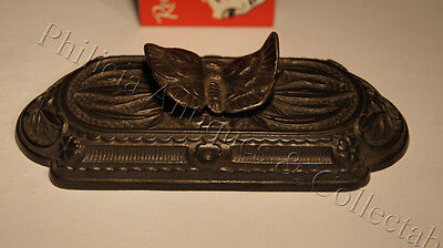 C.1890's Decorative Cast Metal Butterfly Paperweight Registration Number 13114.