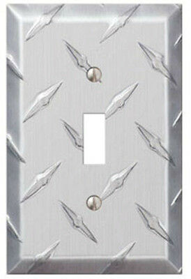 Amerelle 955T Diamond Cut 1 Toggle Wall Plate, Stamped Aluminum