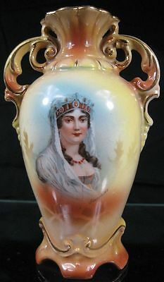 "Vintage Antique 6"" Tall Vase Austria Empress Josephine"