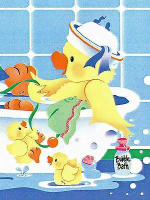 Sale $  Comical Rubber Ducky at Bathtime  45 feet Wallpaper Border  573