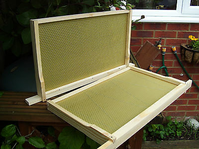 DN4 Beehive Frames with Wired Foundation, Assembled